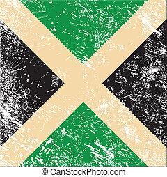 jamaika, retro, fahne