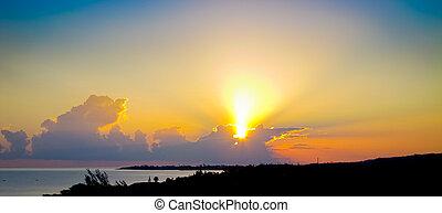jamaika, sonnenaufgang