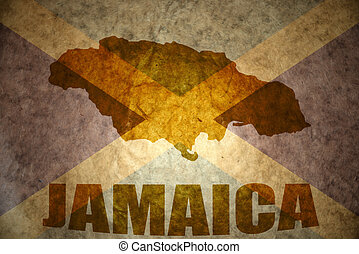 jamaika, weinlese, landkarte