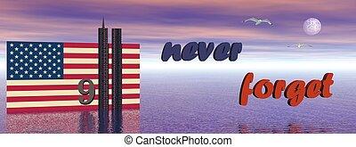 jamais, 9-11, oublier