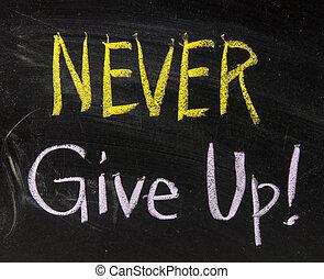 jamais, haut, donner