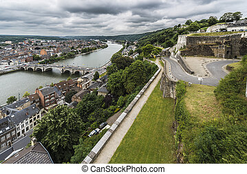 Jambes Bridge in Namur, Belgium - Jambes Bridge crossing the...