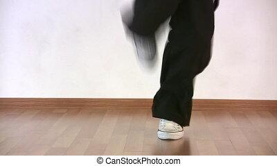jambes, danse