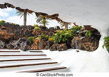 jameos, del, agua, lanzarote, ilhas canário, espanha