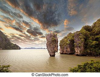 james, bindung, insel, phang, nga, thailand