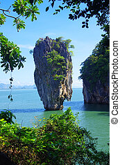james bond island in thailand, ko tapu