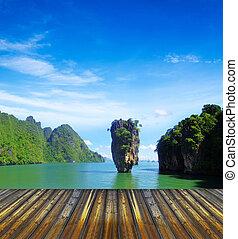 island  - james bond island in thailand, ko tapu