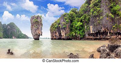james, bono, isla, phang, nga, tailandia