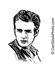 James Dean vector illustration