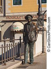 James Joyce, Trieste - View of James Joyce statue in Trieste
