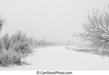 James River in White