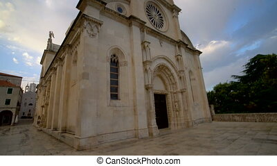 james, sibenik, cathédrale, rue, croatie