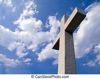 jamestown, gedenkteken, colonists, kruis