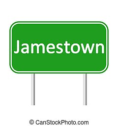 Jamestown road sign. - Jamestown road sign isolated on white...