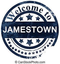 jamestown stamp on white background