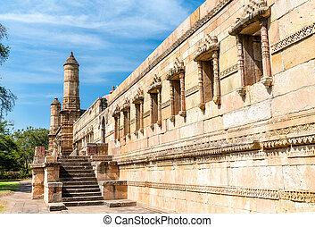 jami, masjid, a, 主要, 旅遊勝地, 在, champaner-pavagadh, 考古學, 公園, -, gujarat, 印度