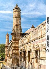 jami, masjid, egy, őrnagy, természetjáró attraction, -ban, champaner-pavagadh, régészeti, liget, -, gujarat, india