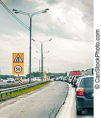 jammed traffic