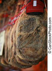 Jamon Serrano Ham - Hanging jamon serrano ham