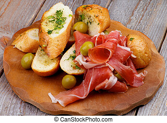 Jamon Tapas - Arrangement of Delicious Tapas with Smoked...