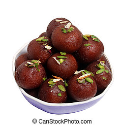 jamun, gulab, dolce, indiano, rasgulla, piatto, pietanza, o