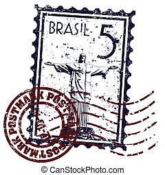 janeiro, bélyeg, ellen-, ábra, rio, vektor