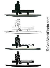 janeiro, brasil, río, estatua, carlos, de, drummond
