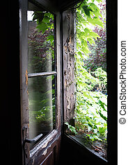 janela aberta, antigas