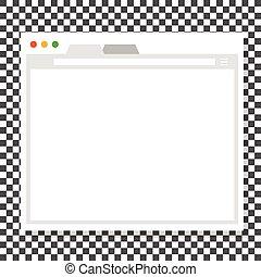 janela, aberta, modelo, browser