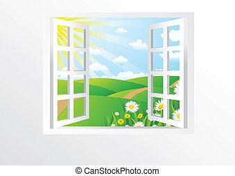 janela, abertos