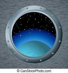 janela, espaço