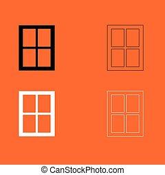 janela, jogo, pretas, branca, ícone