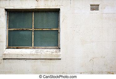 janela, ligado, concreto