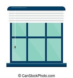 janela, modernos, ícone