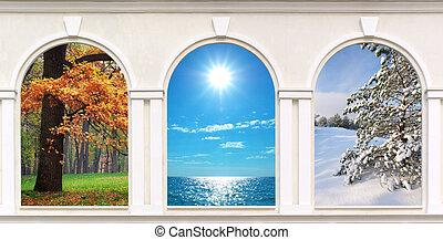 janelas, estações