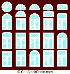 janelas, types., vário, cobrança