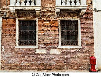 janelas, veneza, antigas, barras