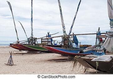 Jangadas on the beach