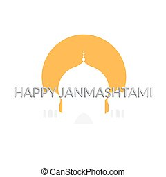 Janmashtami card - Happy janmashtami card. vector...