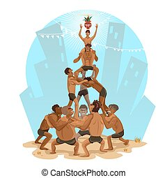 Janmashtami Dahi Handi Illustration - Indian Festival, That...