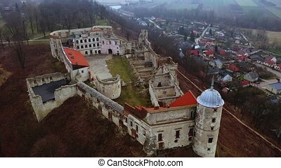 janowiec, pologne, château, style, renaissance, jour, ...