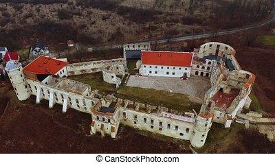 janowiec, printemps, village, moyen-âge, ruiné, sommet colline, paysage, château, nom, pologne, même, au-dessus