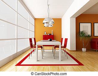 jantar, contemporâneo, sala