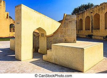 Jantar Mantar observatory complex in Jaipur, Rajasthan, India, Asia