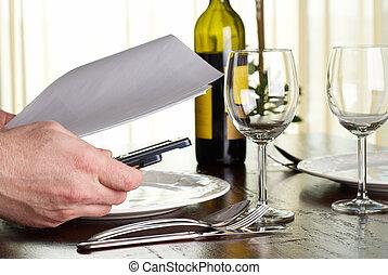 jantar, negócio