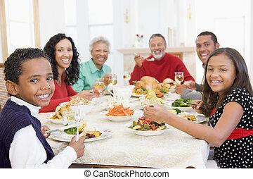 jantar, todos ao mesmo tempo, natal familiar