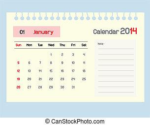 janua, カレンダー, monthly., スケジュール