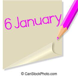 januari, 6