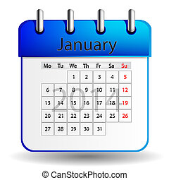 januari, kalender