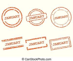 januari, postzegels